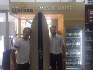 Corona winner, Keith with General Manger Karl Hassler